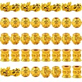 Pixiu Charms Gold Plated 35pcs 10mm mix Pixiu Spacer Ball Beads Hand craved For...
