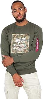 Alpha Industries Men Sweatshirt Camo Block