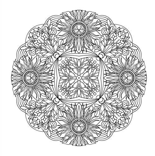 『flower mandalas 心を整える、花々のマンダラぬりえ』の11枚目の画像