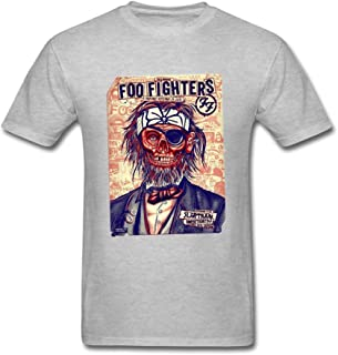 Wanon Men's Designer Foo Fighters Cotton T Shirt
