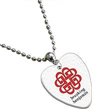 Breaking Benjamin amor corazón cadena de púa de guitarra/collar de ambos lados impresos