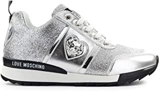 Moschino Luxury Fashion | Love Womens JA15172G1AII190A Silver Sneakers |