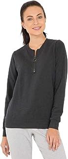 Jockey Women's Sweatshirt, Black Melange