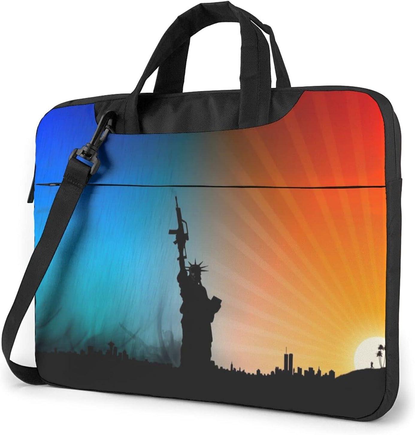 Max 81% OFF Sunrise Cheap mail order specialty store Blue Guns Dawn USA Slim Classic Statue Crossb Briefcase