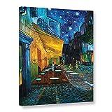 wall art Vincent Van Gogh - Lienzo Envuelto para café, terraza por la Noche en el Lugar del Foro, 24 x 30 cm
