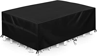 king do way 124'' Outdoor Patio Furniture Covers Waterproof 420D Oxford Polyester Durable Water Resistant Extra Large Size...