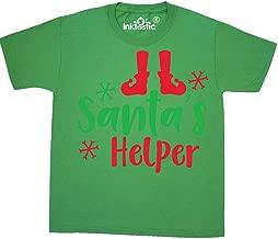 inktastic Santa's Helper, Elf Shoes, Christmas - Red Green Youth T-Shirt
