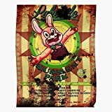 Fsgfeelsogood Robbie The Silent Video Games Horror Rabbit Hill Sh3 Impressive Posters for Room Decoration Printed with The Latest Modern Technology on semi-Glossy Paper Background