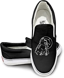 EWIED Unisex Classic Overwatch Cool Reaper Slip-On Shoes Black