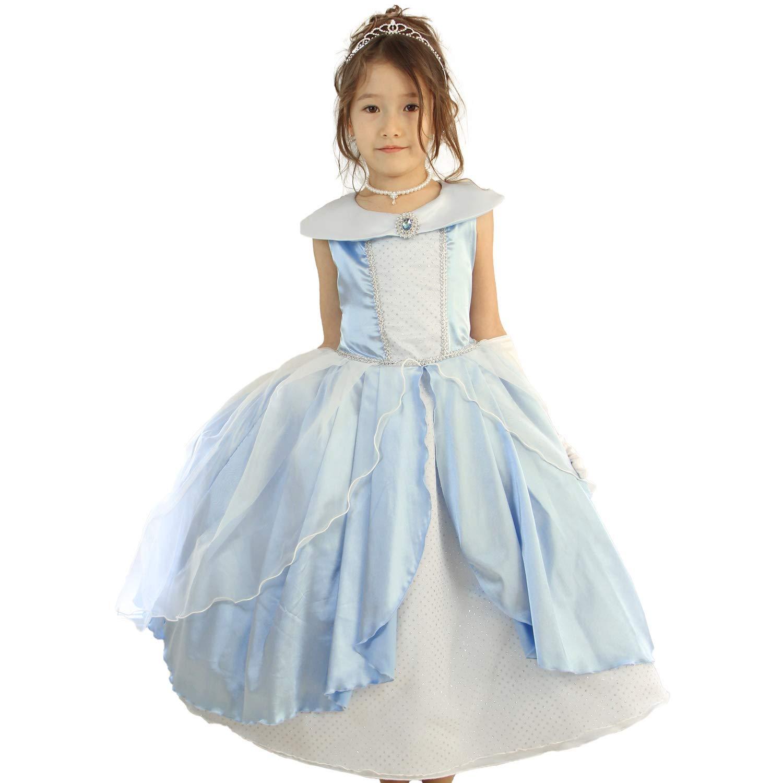【ディズニー公式】 子供ドレス ディズニープリンセス シンデレラ ドレス 結婚式 女の子 キッズ [リトルプリンセス] Little Princess 130cm シンデレラ
