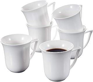 MALACASA, Série Carina, 6pcs Service à Café Porcelaine, Service à Thé, Tasses Porcelaine Tasse à Café Mugs