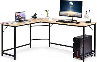 Jouer Noir LWD56BK Table d/'Angle avec Support d/'/écran Gain d/'Espace Assemblage Facile pour /étudier Travailler Pieds r/églables VASAGLE Bureau en Forme de L Cadre m/étallique