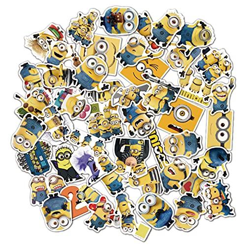 HENJIA 50 Uds, Pegatinas de Dibujos Animados de Personajes de Anime, Bonita Pegatina Impermeable para Equipaje, portátil, Nevera, Pegatinas para niños