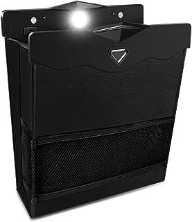 車用ゴミ箱 車載 ゴミ袋 KOOLSEN 2020年最新型 車用収納ケース 後部座席収納 磁気付き LEDライト付き 防水 PUレザー製 大容量 高級感 簡単取付 折りたたみ式