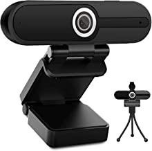 4K HD Webcam with Microphone, 8MP USB Computer Web Camera With Privacy Shutter and Tripod, Pro Streaming Webcam PC Cam Mac...