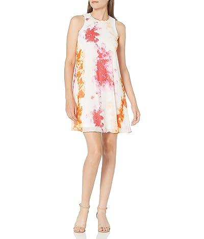 Calvin Klein Sleeveless Round Neck Trapeze Dress