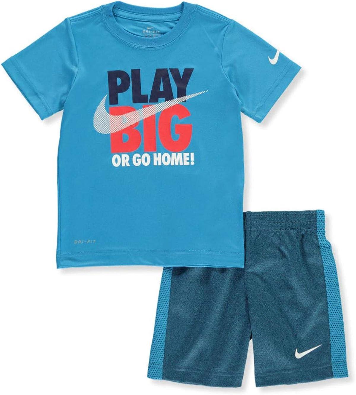 Nike Boys' Play Big 2-Piece Shorts Set Outfit - Multi, 5