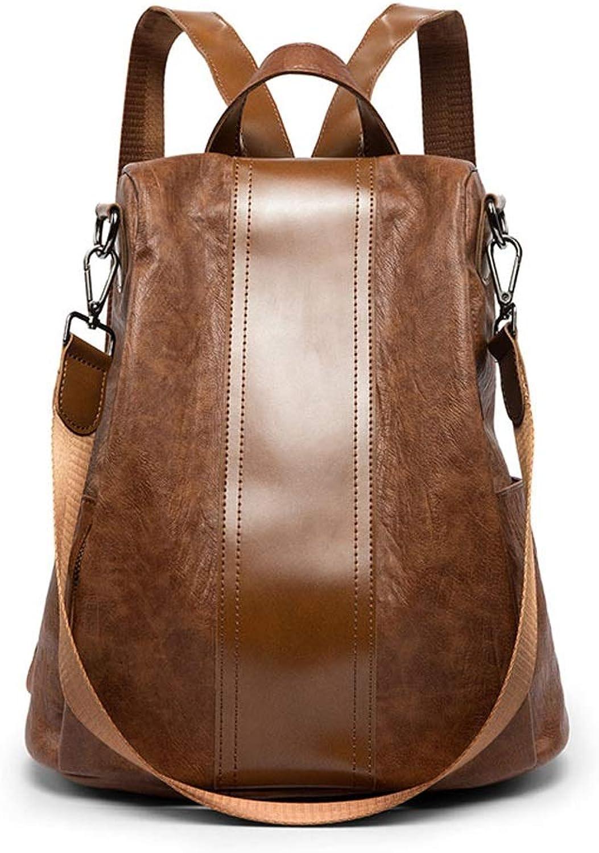 HYF Women's Soft Leather Tote Shoulder Bag, Big Capacity Tassel Handbag Shoulder Tote Bags (color   Brown, Size   Onesize)
