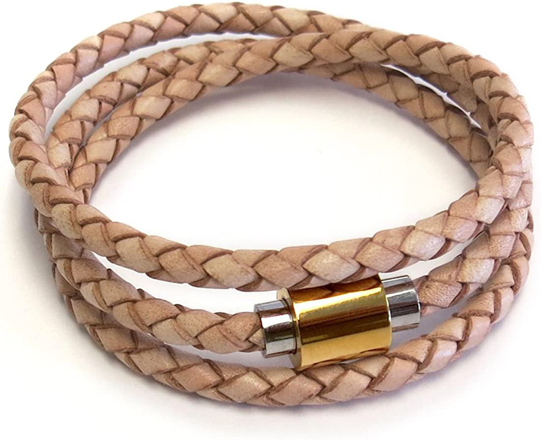 Liza Schwartz Two-Tone Clasp Spring new work one after another Rich famous Wrap Braided Triple Le Premium