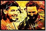 TPCK Che Guevara und Fidel Castro Kunstdruck (mit