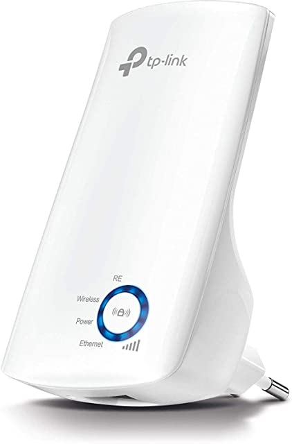 TP-Link N300 Tl-WA850RE - Repetidor Extensor de Red WiFi (2.4 GHz 300 Mbps Puerto Ethernet Modo Ap y Extensor Antenas Internas) Blanco