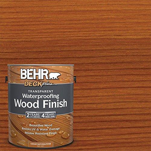 BEHR 401 1 Gal. Transparent Waterproofing Cedar Natural tone Wood Finish