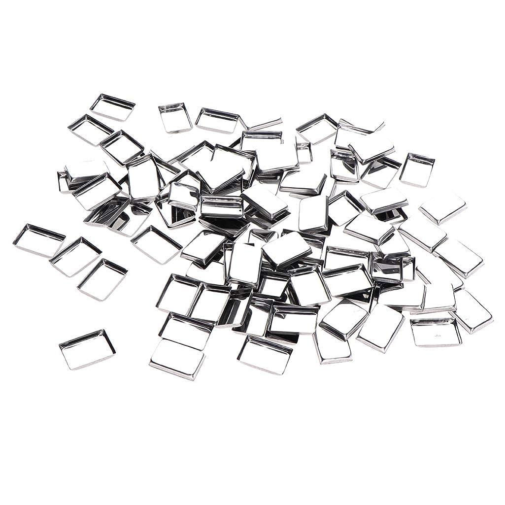 情熱トレーニングうっかりB Baosity 約100個 メイクアップパン 化粧パレット DIY 旅行小物 金属製 3タイプ選べ - リタングル
