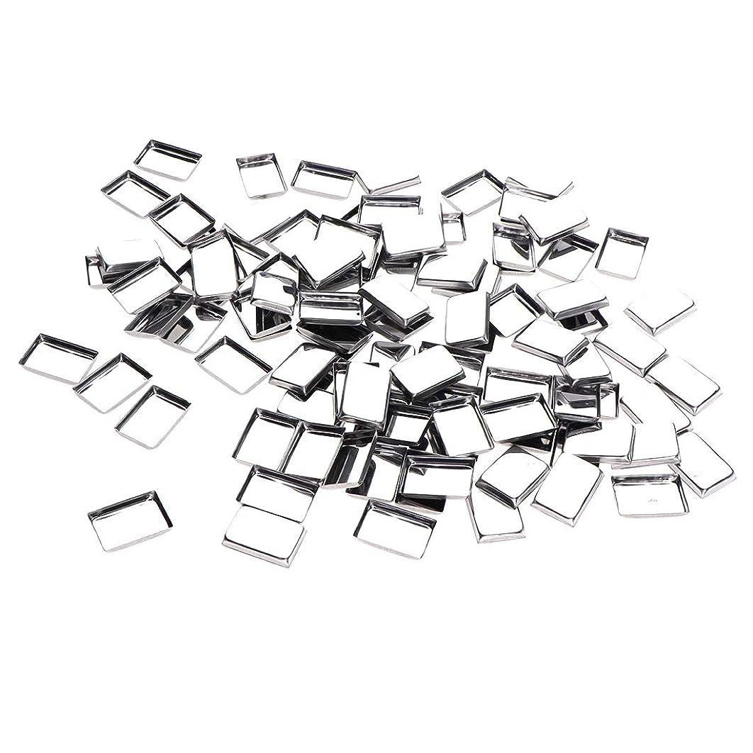 鳴り響く系統的フルーツB Baosity 約100個 メイクアップパン 化粧パレット DIY 旅行小物 金属製 3タイプ選べ - リタングル