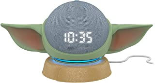 All-new Echo Dot (4th Gen) Smart Speaker with clock Twilight Blue with All New, Made for Amazon, featuring The Mandalorian...