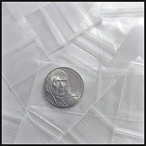 10125 Original Mini Ziplock 2.5mil Plastic Bags 1″ x 1.25″ Reclosable Baggies (Clear)