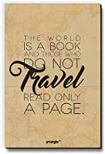 The World is A Book Those Who Do Not Travel Read Only A Page Fridge Magnet/Multipurpose Magnet for Home/Kitchen/Office by Seven Rays