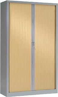 Armoire Monobloc à rideaux   Aluminium   Chêne Clair  HxLxP 1980 x 1200 x 430   Certeo
