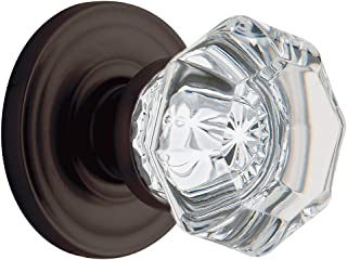 Baldwin 5800.112.IDMRD Fillmore Crystal Knob Traditional Rose, Venetian Bronze
