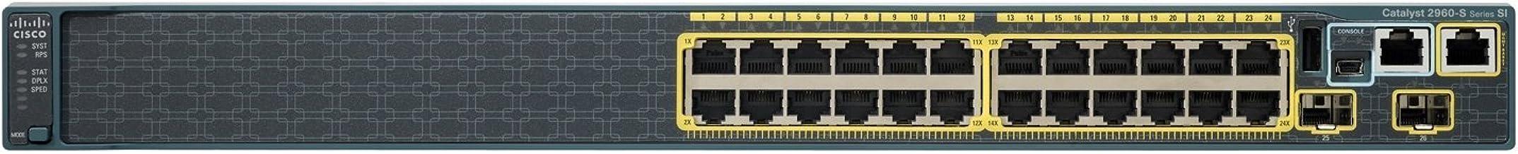 Cisco WS-C2960S-24TS-L WS-C2960S-48TS-L Catalyst 2960S Series 1 Gbps - Conmutador de Red de 24 Puertos (reacondicionado)