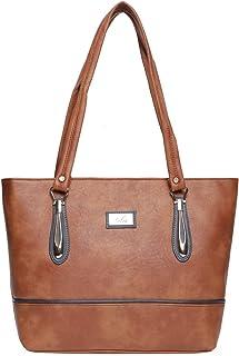 Women Tan Zip Handbags
