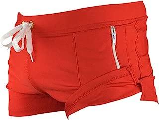 JINGJQINGCAO Man Zip Swimming Trunks Boxer Shorts Swimwear Surf Board Beach Wear Swimsuits