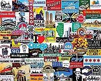 XiuTaiLtd 私はシカゴが大好きです-子供のための1000ピースのパズル、友人へのホリデーギフト