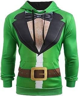 iLUGU Ugly Sweater Men Christmas Suit Pattern Hoodies for Girls 3D Print Long Sleeve Hoodie Caps Sweatshirt Pullover