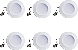 Philips LED 802389 myLiving Dimmable 5�/6� Downlight Recessed Lighting Fixture: 660-Lumens, 2200-Kelvin, 11 (65-Watt Equivalent), E26 Medium Screw Base, Soft White with Warm Glow, 6-Pack, Count