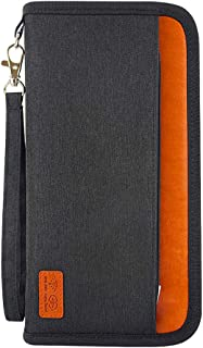 travel wallet with initials