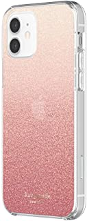 kate spade new york Protective Hardshell Case Compatible with iPhone 12 & iPhone 12 Pro - Glitter Ombre Sunset Pink/Multi