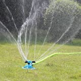 Kadaon Lawn Sprinkler Automatic Garden Water Sprinklers Lawn Irrigation System 3000 Square Feet Coverage Rotation 360 Degree