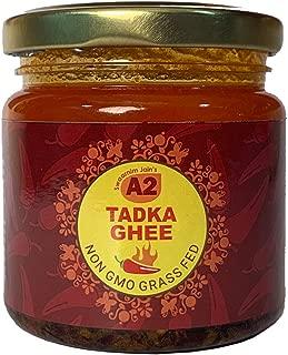 A2 Tadka Ghee 6.7oz - Swaarnim Jains' A2 Brahma Muhurta Gir Cow Ghee Tadka Blend 200ml - Probiotic Properties - 0% Trans Fat - Grass-Fed - Non-GMO - Made in Brahma Muhurta - Pure & Purifying