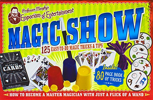 Magic Show: 125 Easy-To-Do Magic Tricks & Tips [With 5 Magic Cards, Pack of Playing Cards and 4 Balls, 3 Ropes, 4 Mind Reading Disks, Magic Wand a (Professor Murphy's Emporium of Entertainment)