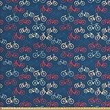 ABAKUHAUS Fahrrad Gewebe als Meterware, Fahrrad-Skizzen auf