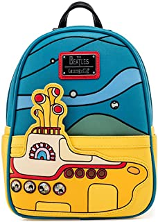 Loungefly The Beatles Yellow Submarine Womens Double Strap Shoulder Bag Purse