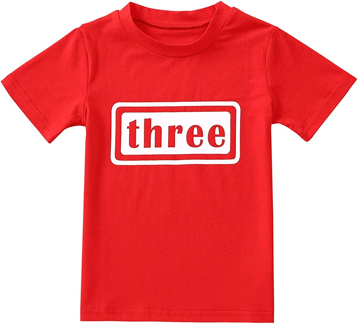 3rd Birthday Shirt Kid Toddler Boy Outfit 3 Year Old T-Shirt Baby Third Tees Top Summer Blouse Clothes
