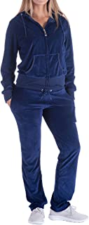 Evrimas Women's 2 Piece Outfits Velvet Zip Hoodie Sweatshirt & Sweatpants Sweatsuits and Velour Tracksuit Sets Jogging Suit