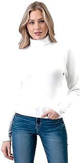 Mirabell Women's Lightweight Turtle Neck/Mock Neck Long Sleeve Sweater Knit Top
