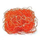 GLOGLOW Filet de But de Football, Filet de Rechange de Football, Compensation de Poteau de But de Football pour Le Match d'entraînement d'entraînement Orange(3.2m*2.1m)
